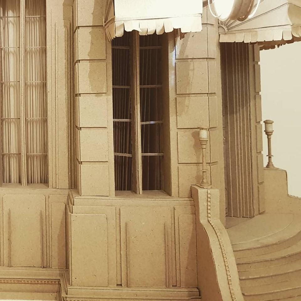 Detail van kartonnen object voor animatie van Daniel Agdag
